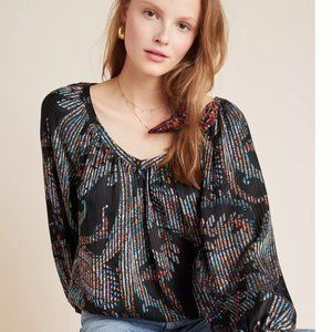 NEW WITH TAGS! Anthropologie Satin Top retail $98!